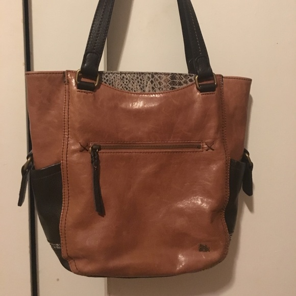 The Sak Bags   Kendra Work Tote Brownsnake Leather   Poshmark 2c26fdabce